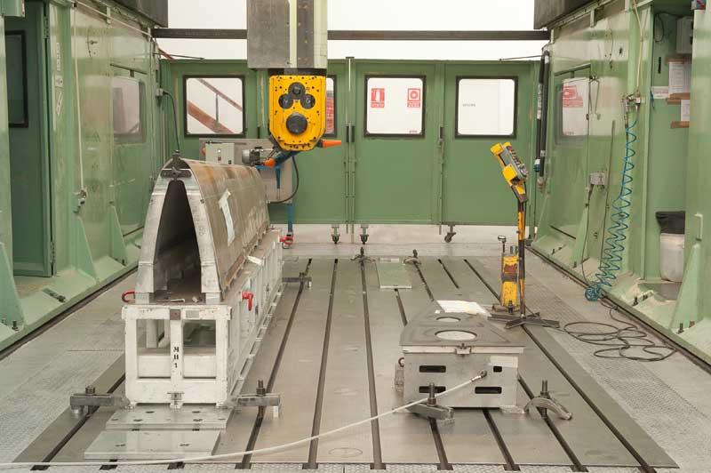 Máquina mecanizada 5 ejes